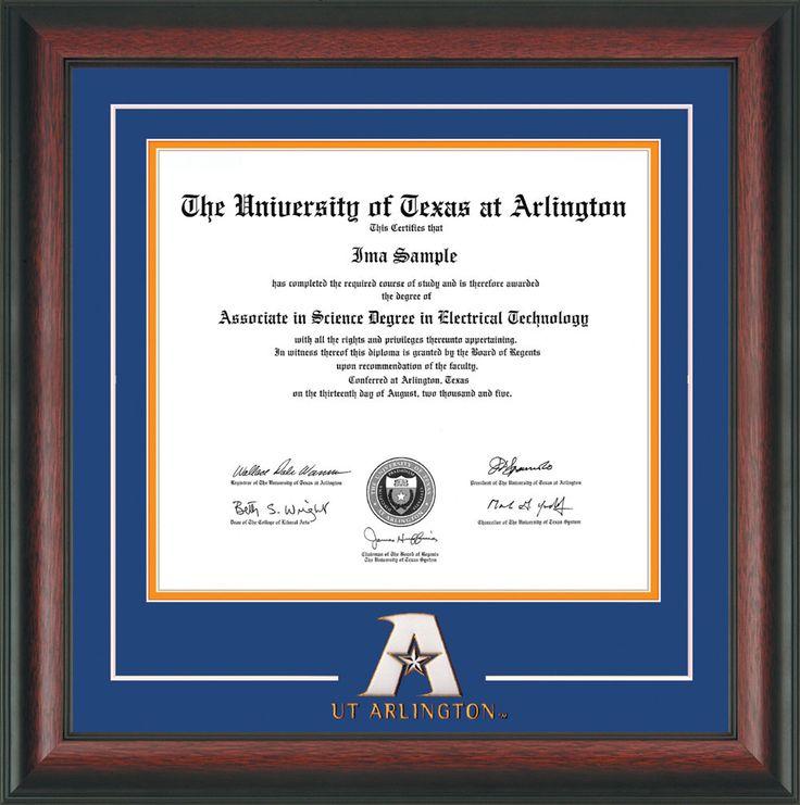 78 best University of Texas at Arlington Diploma frames & Graduation ...
