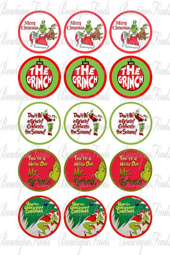 INSTANT DOWNLOAD. The Grinch Variety Digital by BowtiqueFinds, $0.99