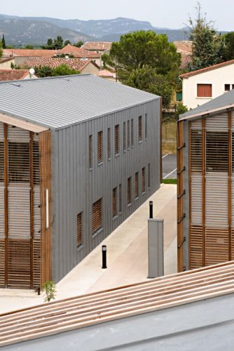 Vallée de l'Hérault Regional, District Council Centre in Gignac (France)  #Architecture #Zinc #VMZINC #Wood #CollectiveHousing #Façade #France