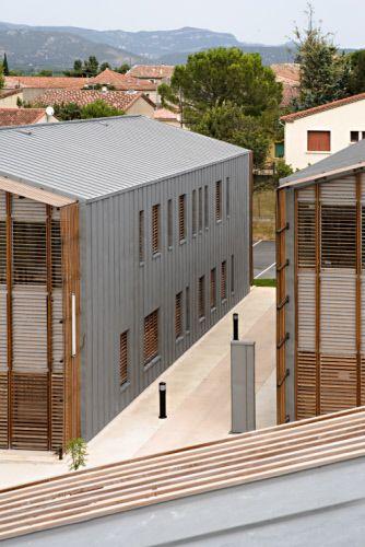 Vallée de l'Hérault Regional, District Council Centre in Gignac (France)  #Architecture #Zinc #VMZINC #Wood #CollectiveHousing #Façade #France
