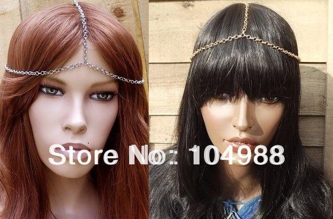 Стиль BY-133 мода европейский уникальный дизайн стиль заставки глава цепочки лоб ленты для волос ободки роуз старинное серебро