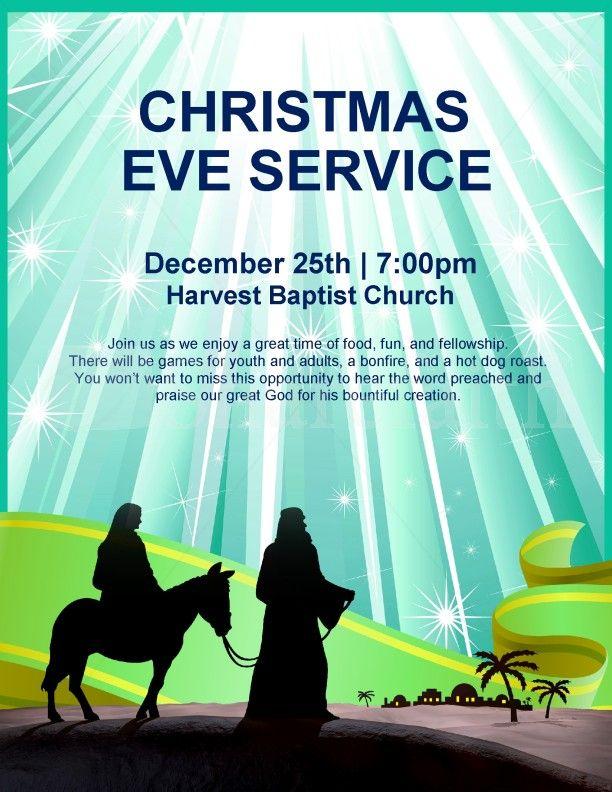 nativity flyer christmas eve service page 1