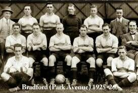 Bradford Park Avenue team group in 1925-26.