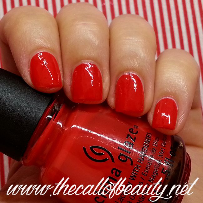 The Call of Beauty: Nail swatch: China Glaze Igniting Love