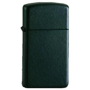 Zippo Slim Black Matte Plain Lighter