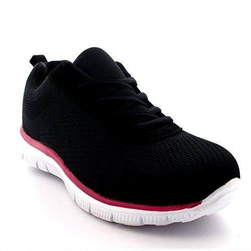 Oferta: 23.99€. Comprar Ofertas de Mujer Get Fit Malla Go Corriendo Entrenadores Atlético Caminar Zapatos Sport Correr - Negro/Rosa/Blanco - UK7/EU40 - BS0068 barato. ¡Mira las ofertas!