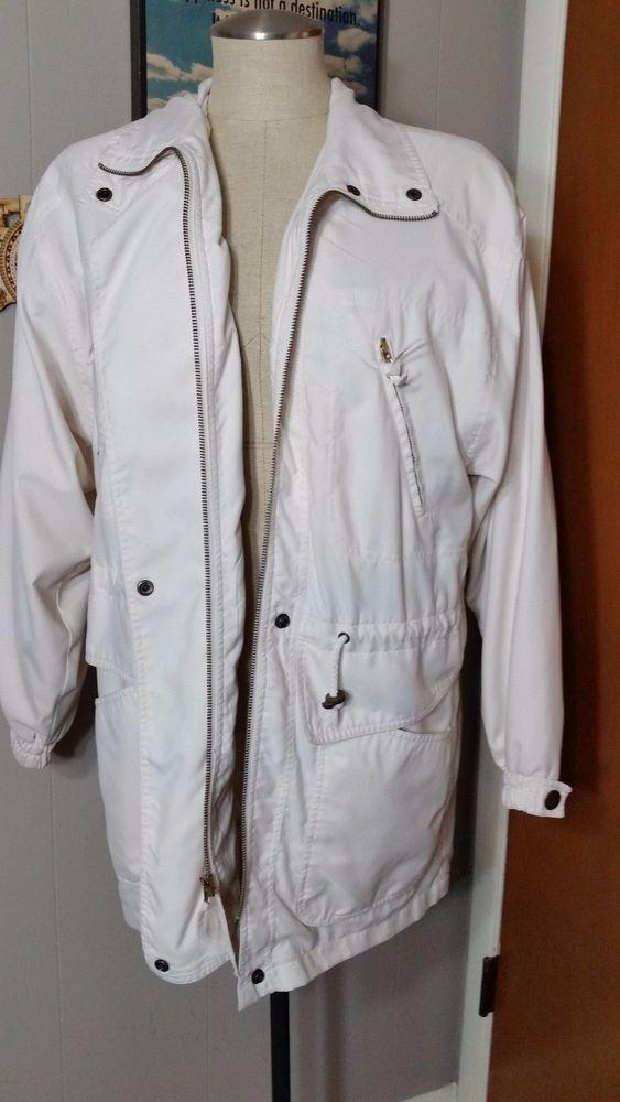 ab4049b45c5 Preston   York Sport White Zippe Coat Trench Jacket Parka Outerwear ...