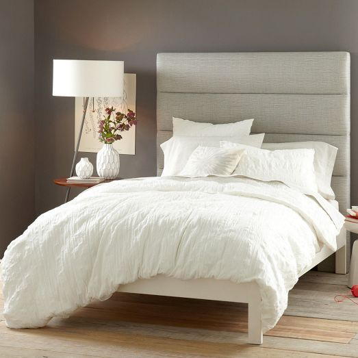 Panel Tufted Headboard + Simple Bed Frame | West Elm CHF 1022.50