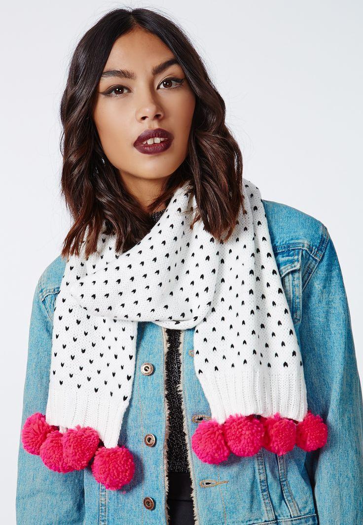 pompom scarf - Google Search