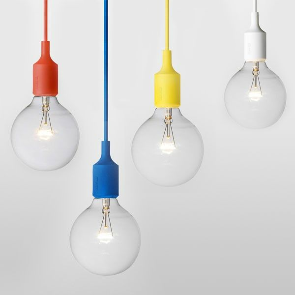 lampe-ampoule-design-suspension-e27-muuto-rouge