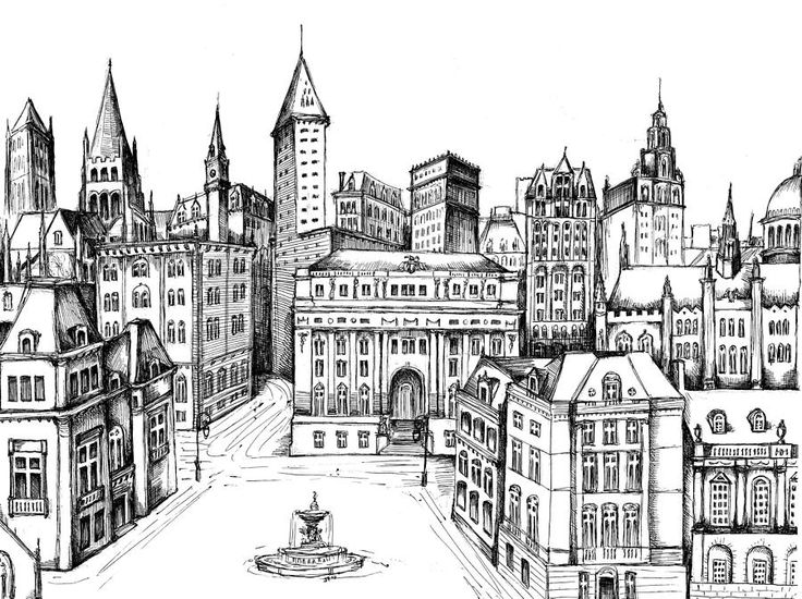30 Best Images About Urban/Landscape Drawing Tutorials On Pinterest   Value Drawing Copic ...