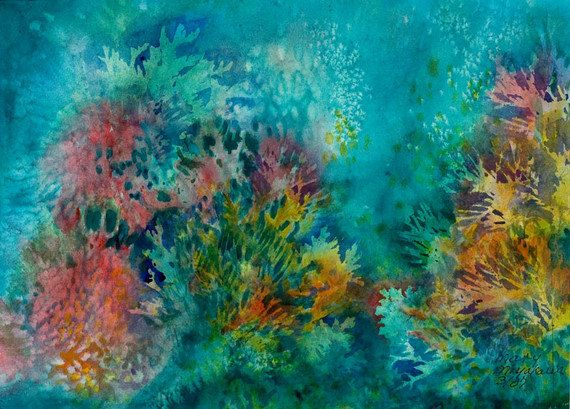 Coral Watercolor | Coastal Home | Pinterest | Originals ...