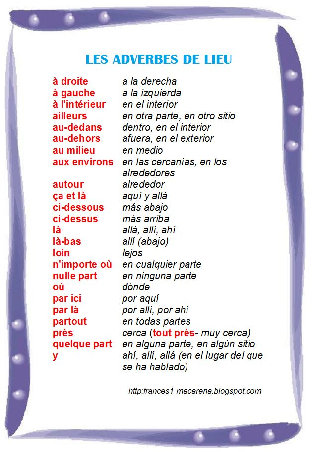 Frances de 1º de Bachillerato (A2)