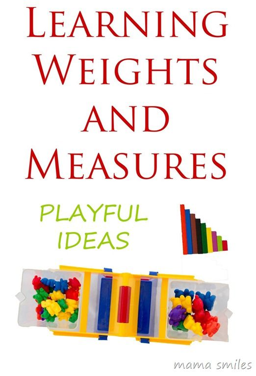 Playful ways to learn weights and measures - part of the cool maths for cool kids series featuring all sorts of fun way to teach mathematics to children.
