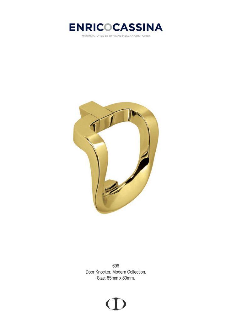 door knocker, polished brass, modern, style, design, different