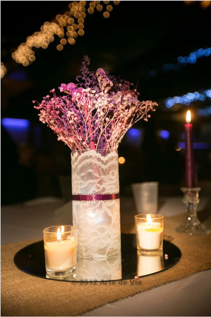 Spray Painted baby's breath. Great DIY centerpiece idea. This blog tells you how.
