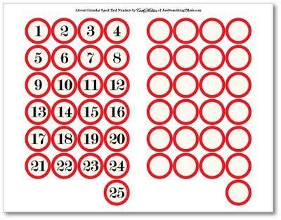 Free printables ....... http://justsomethingimade.com/2009/10/simple-spool-advent-calendars/