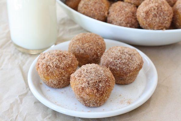 9. Baked Pumpkin Donut Holes | Community Post: 101 Pumpkin Recipes From Drinks To Dessert