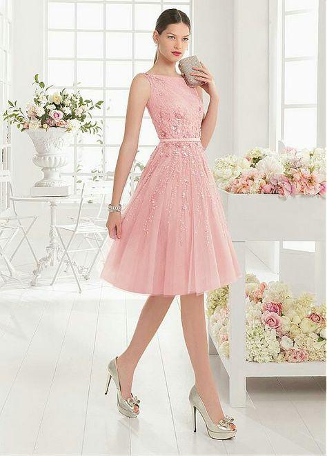 Hermoso vestido en color palo de rosa
