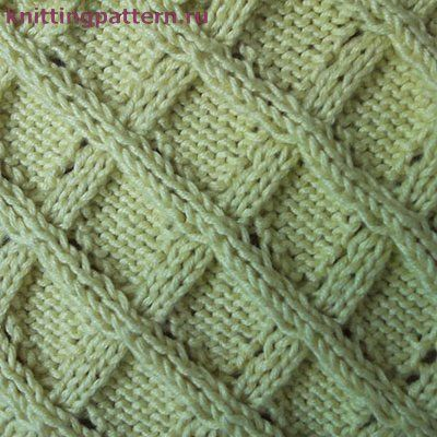 Узор для вязания спицами Садовая решетка