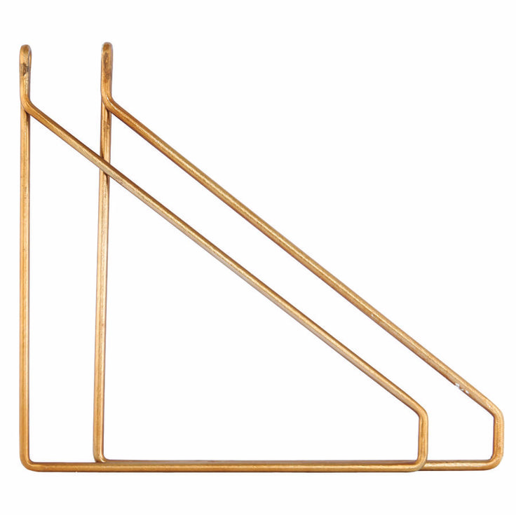 brass shelf supports by all things brighton beautiful | notonthehighstreet.com