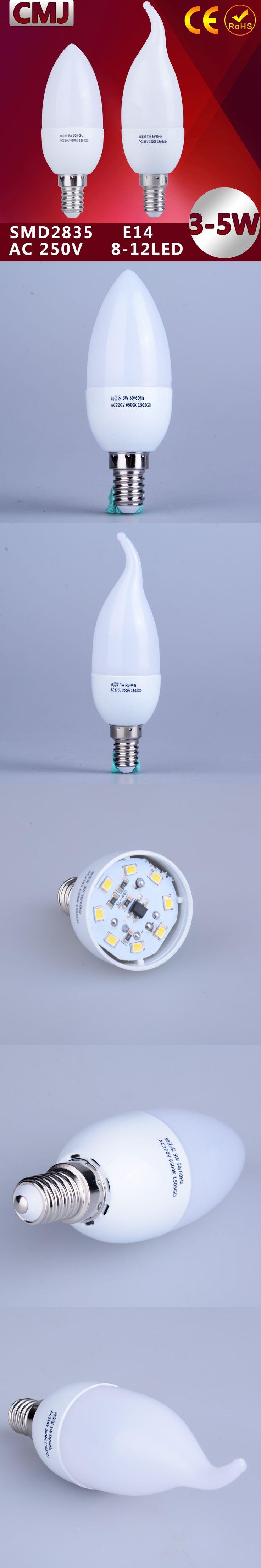 1pcs E14 Led Candle Energy Saving Lamp Light Bulb Velas Led Decorativas Home Lighting Decoration Led Lamp E14 5w 3w 220v Smd2835 $1