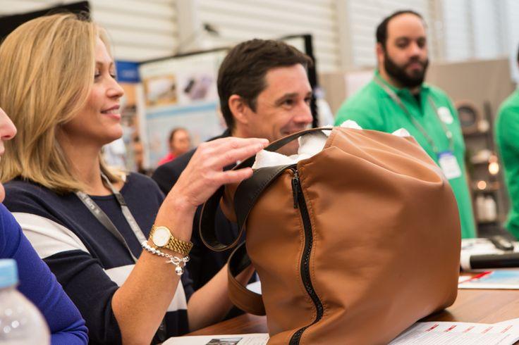 Tara Dennis - esteemed Designer & TV presenter loved the Bella Baby Bag!