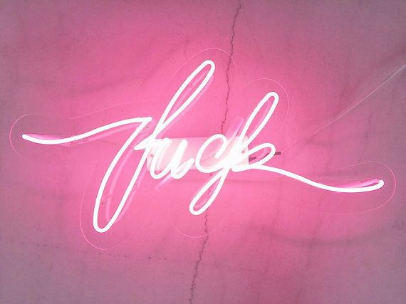 Neon sign f-word – f*ck handmade neon light