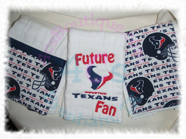 119 best baby texans images on pinterest houston texans babies houston texans burp cloth houston texans football baby shower gift negle Choice Image