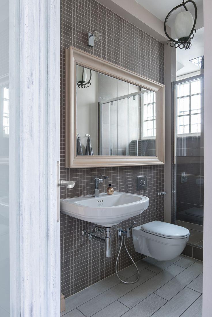 Apartament na Mokotowie - łazienka - tryc.pl #shabby #chic #bathroom