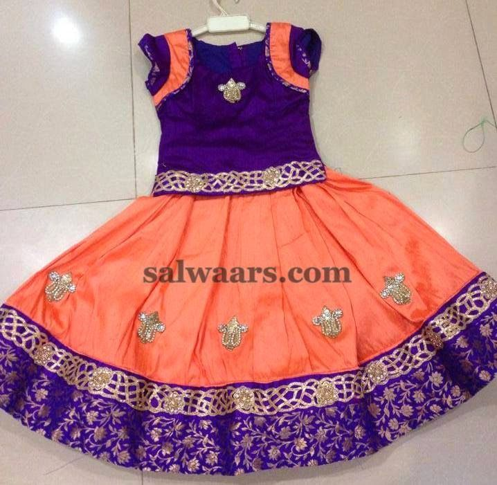Peach and Purple Lehenga | Indian Dresses