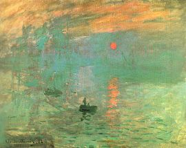 Monet - not the painting itself, but the texture of lights and water in terms of a projection element.