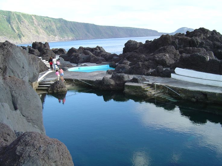 Sea water swimming pool at Varadouro on #Faial island in the #Azores, Azores, Portugal
