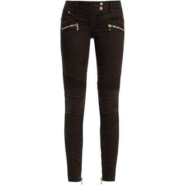 Skinny biker jeans black