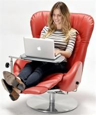Amy GL Swivel Recliner Chair Lafer Recliner Chair by Lafer Recliners of Brazil.  Ergonomic Reclining Chair for Home, Office, Media Room, Living Room.