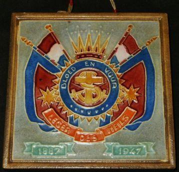 LEGER DES HEILS cloisonne tegel Westraven Utrecht 1887-1947