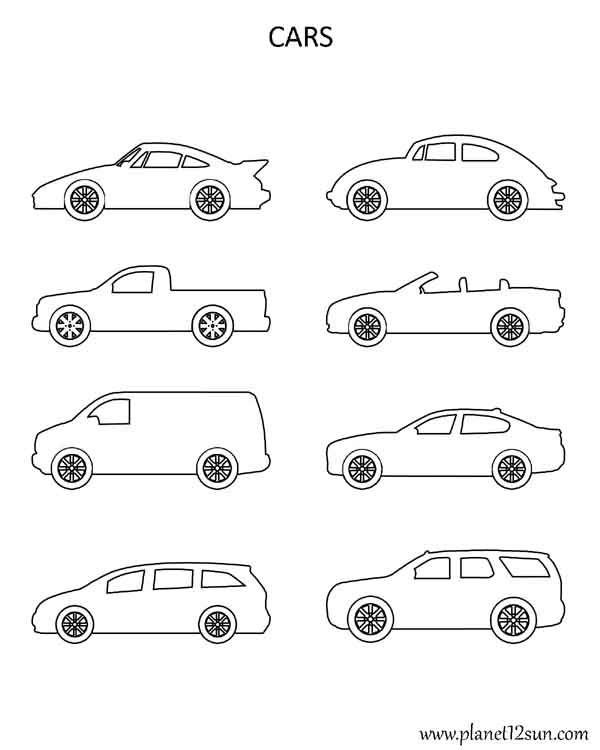 cars print color cut out worksheets pinterest cars colors and printables. Black Bedroom Furniture Sets. Home Design Ideas
