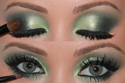 Eyeshadow and make up ideas : Play with green   Make Up Tips