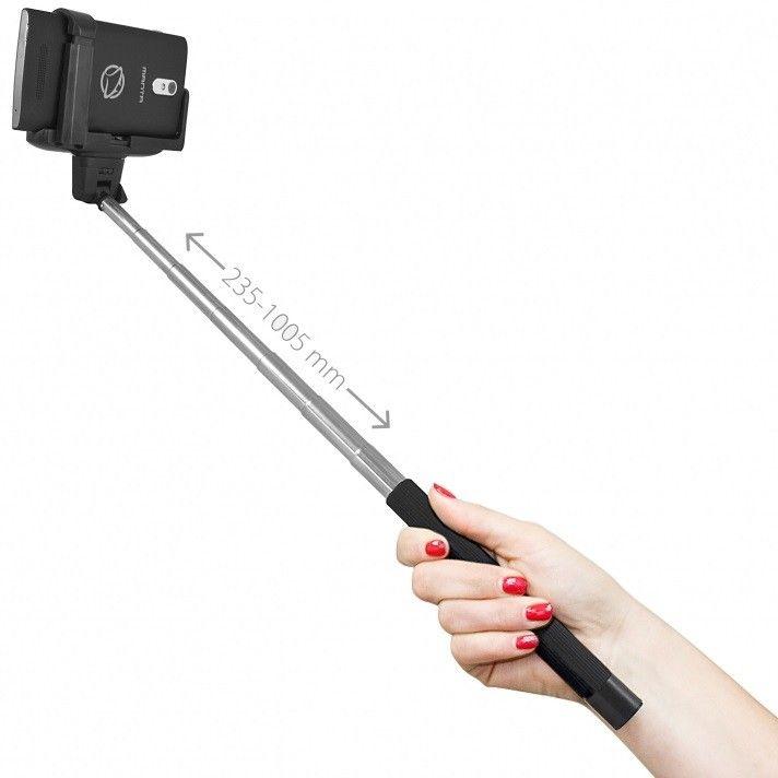 Comandă acum selfie stick-ul universal Manta MA421, cu conexiune bluetooth și mâner telescopic, pentru cele mai tari poze alături de prietenii tăi!