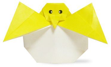 Origami A Chicken that is born from egg