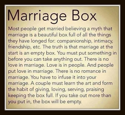 Marriage box marriage and poem on pinterest