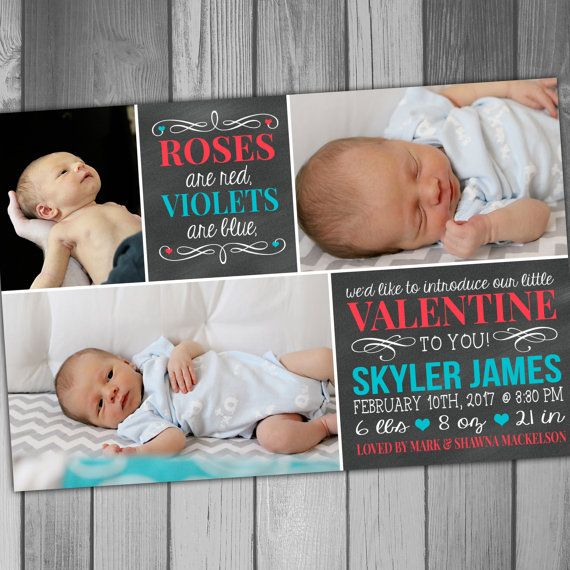 Birth Announcement Photo Birth Announcement Baby by CLaceyDesign