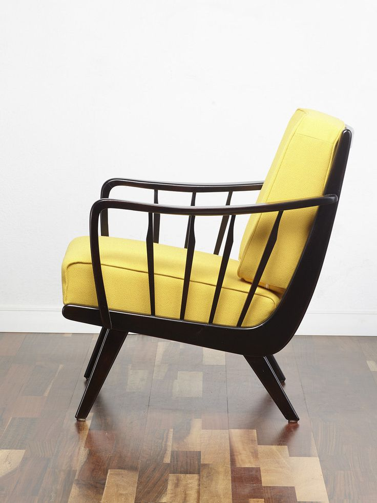 A truly striking 50s cocktail chair. The chair has slanted upwards armrests with vertical spindles which are also repeated on the back of the chair meaning that this chair displays nicely all the way round. #Cocktail_Chair #Vintage_Armchair #Retro_chair #50s #60s #70s #Midcentury  www.viremo.co.uk