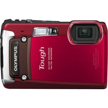 Olympus Tough TG-820 (Red) 12MP Waterproof/Shockproof Camera
