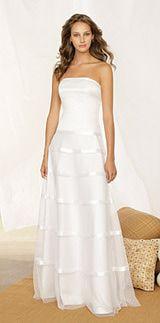 Destination wedding dress by Vivian Dessy Diamond of The Dessy Group.