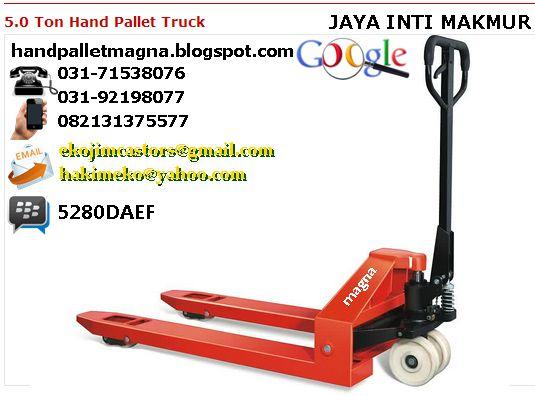 HAND PALLET KAPASITAS 5 TON 082131375577 (CALL/SMS/LINE/WA) 5280DAEF (PIN BB)