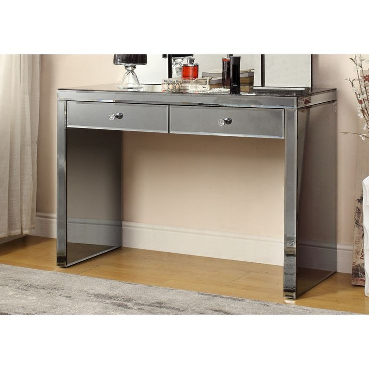 smoked mirrored furniture. SMOKE MIRROR Console Hallway 2 Drawer Dressing Table - Mirror Furniture Smoked Mirrored