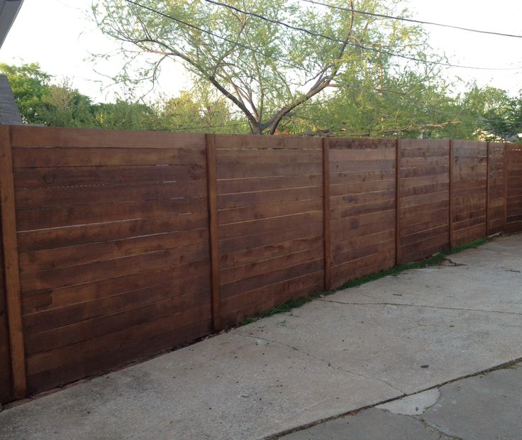 Horizontal Cedar Fence I Used Dogeared 6in Pickets