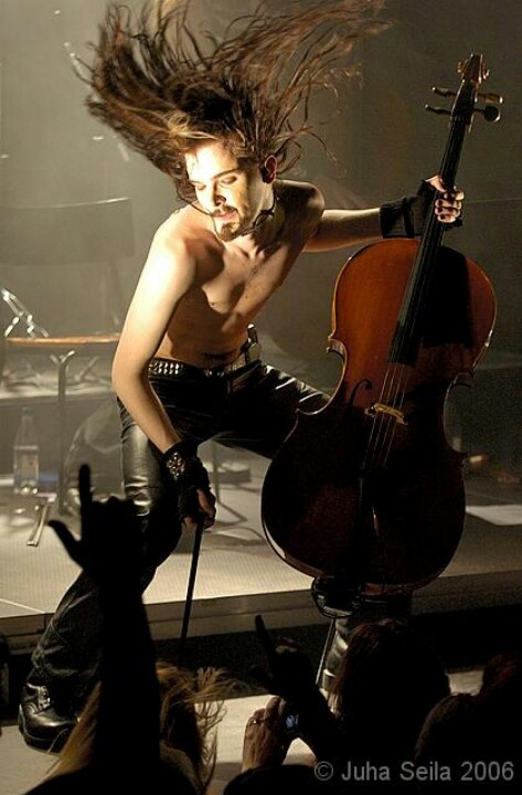 Perttu Kivilaakso of Apocalyptica. Finnish Okay I don't know who this guy is but I really want to find out!!!