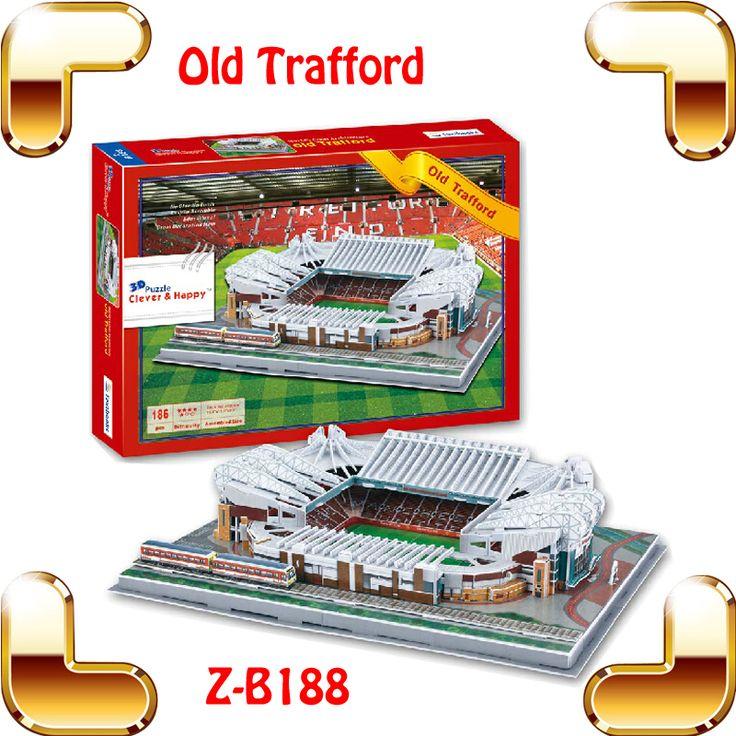 Новогодний подарок мау олд траффорд стадион 3D головоломка для сборки головоломки модель масштаб футбольная площадка вентиляторы коллекция игрушек футбол DIY